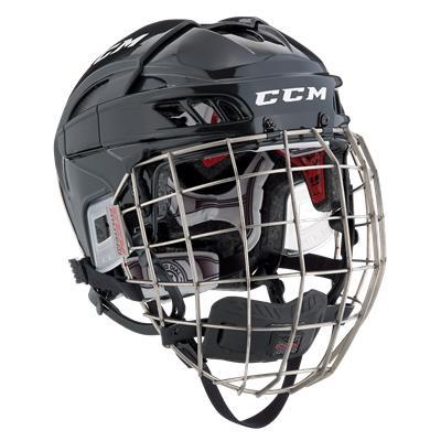 Black/Black (CCM FITLITE Helmet Combo)