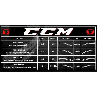 Blade Chart (CCM RIBCOR 30K Grip Composite Hockey Stick)