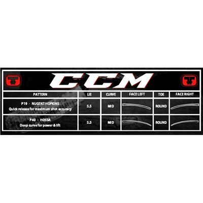 Blade Chart (CCM RBZ 80 LE Grip Composite Stick)