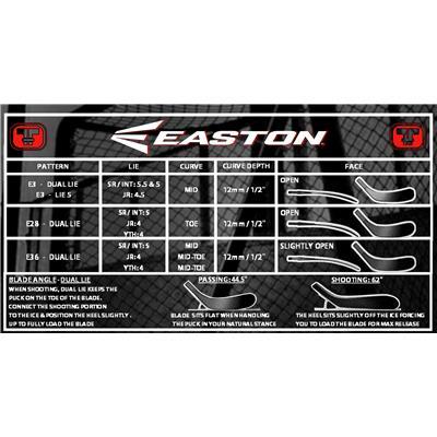Blade Chart (Easton V9E ST Elite Grip Composite Stick)
