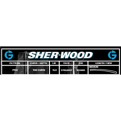Blade Chart (Sher-Wood T120 Composite Goalie Stick)
