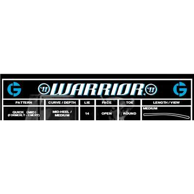 Blade Chart (Warrior Swagger Wood Goalie Stick)