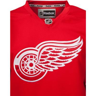 Logo View (Reebok Detroit Red Wings Premier Jersey - Home/Dark)