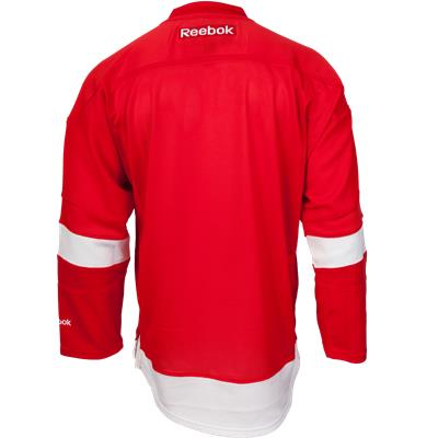 Back View (Reebok Detroit Red Wings Premier Jersey - Home/Dark - Youth)
