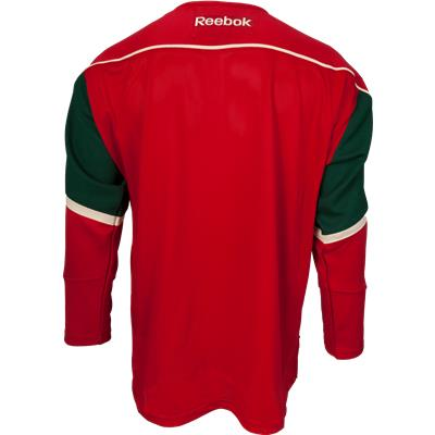 Back View (Reebok Minnesota Wild Premier Jersey - Home/Dark)