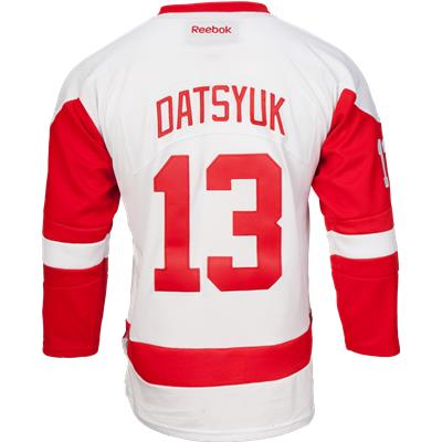 Datsyuk No. 13 (Reebok Detroit Red Wings Pavel Datsyuk Premier Jersey - Away/White - Youth)