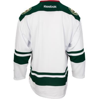 Back View (Reebok Minnesota Wild Premier Jersey - Away/White - Youth)
