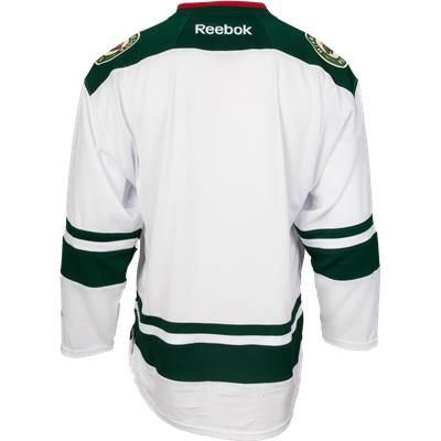 Back View (Reebok Minnesota Wild Premier Jersey - Away/White)