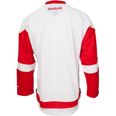 Back View (Reebok Detroit Red Wings Premier Jersey - Away/White - Youth)