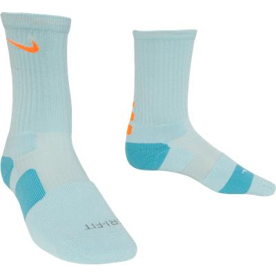 Carolina Blue/Orange (Nike Elite Crew Socks)