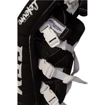 Strap View (CCM Extreme Flex II 760 Goalie Leg Pads - Youth)
