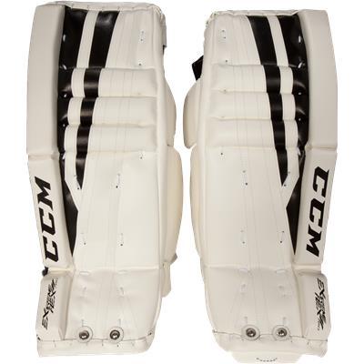 White/Black (CCM Extreme Flex II 760 Goalie Leg Pads)
