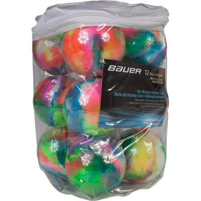 (Bauer Multicolored Street Hockey Ball - 12 Pack)
