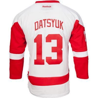 Datsyuk No. 13 (Reebok Detroit Red Wings Pavel Datsyuk Premier Jersey - Away/White)