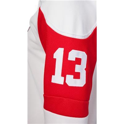 No. 13 On Sleeve (Reebok Detroit Red Wings Pavel Datsyuk Premier Jersey - Away/White)