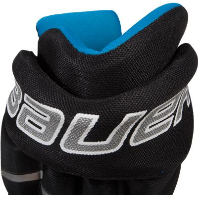 Back Cuff View (Bauer Prodigy Hockey Gloves)