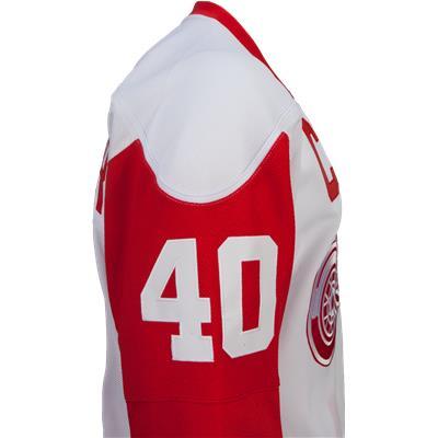 No. 40 On Sleeve (Reebok Henrik Zetterberg Detroit Red Wings Premier Jersey - Away/White)