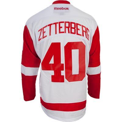 Zetterberg No. 40 On Back (Reebok Henrik Zetterberg Detroit Red Wings Premier Jersey - Away/White)