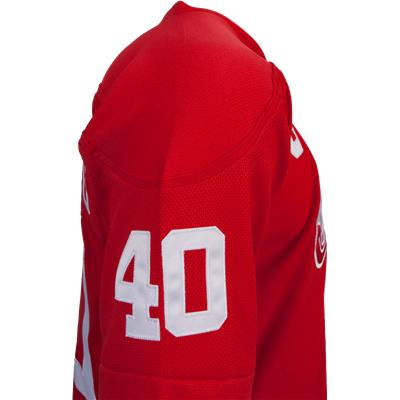 No. 40 On Sleeve (Reebok Henrik Zetterberg Detroit Red Wings Premier Jersey - Home/Dark)