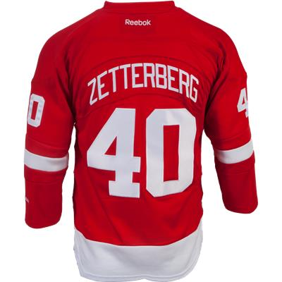 Zetterberg No. 40 On Back (Reebok Henrik Zetterberg Detroit Red Wings Premier Jersey - Home/Dark)