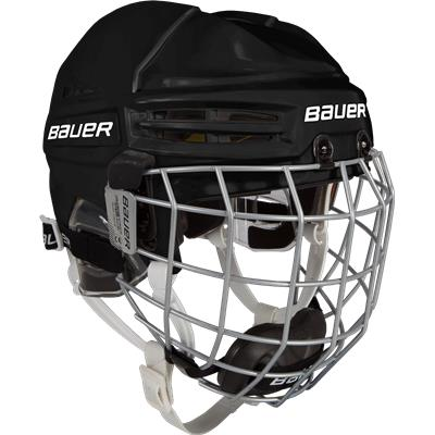 Black (Bauer RE-AKT 100 Hockey Helmet Combo - Youth)