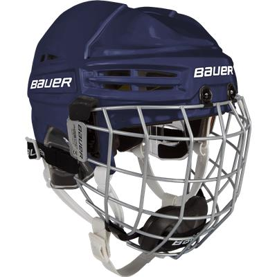Navy (Bauer RE-AKT 100 Hockey Helmet Combo - Youth)
