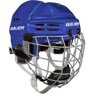 Royal (Bauer RE-AKT 100 Hockey Helmet Combo - Youth)