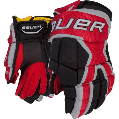 Black/Red (Bauer Supreme 190 Gloves)