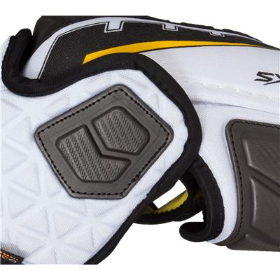 Zoomed Side View (CCM Ultra Tacks Elbow Pads)