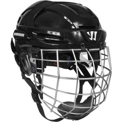 Black (Warrior Krown PX3 Hockey Helmet Combo)