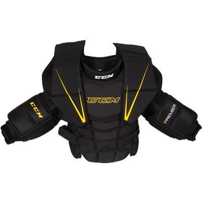 Black/Yellow (CCM Premier Goalie Chest & Arms)
