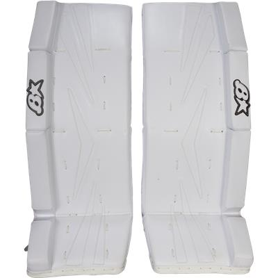 White/White/White (Brians Net Zero Goalie Leg Pads - Youth)