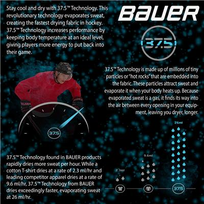 (Bauer Premium Grip Crew Long Sleeve Shirt)