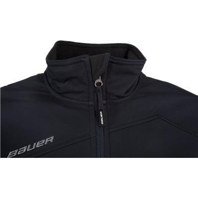 Collar View (Bauer Team Softshell Full-Zip Jacket - Mens)