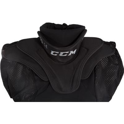 Collar View (CCM Goalie Shirt Throat Collar)