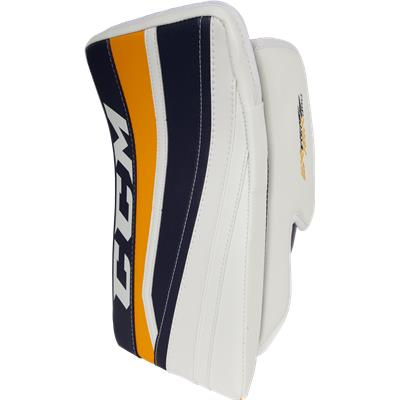 White/Navy/Sport Gold (CCM Extreme Flex II 860 Blocker)