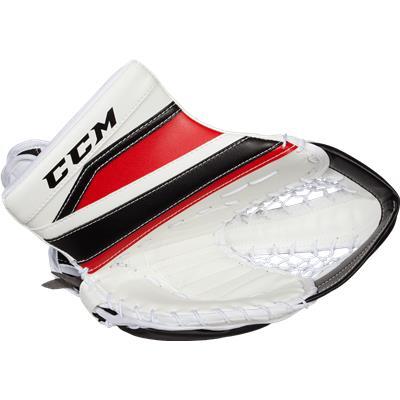 White/Black/Red (CCM Extreme Flex II 860 Goalie Catch Glove)