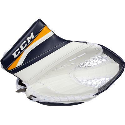 White/Navy/Sport Gold (CCM Extreme Flex II 860 Goalie Catch Glove)