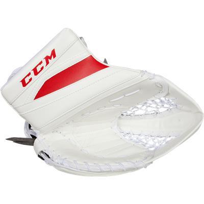 White/Red (CCM Extreme Flex II 860 Goalie Catch Glove)