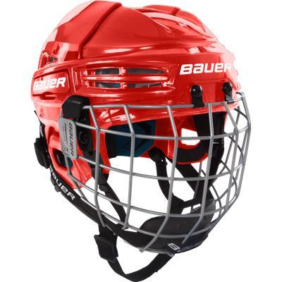 Red (Bauer Prodigy Helmet Combo)