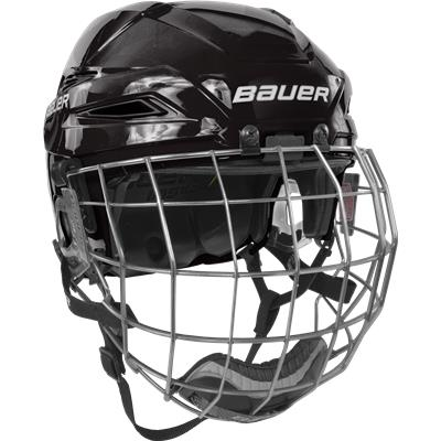 Black/Black (Bauer IMS 11.0 Hockey Helmet Combo)