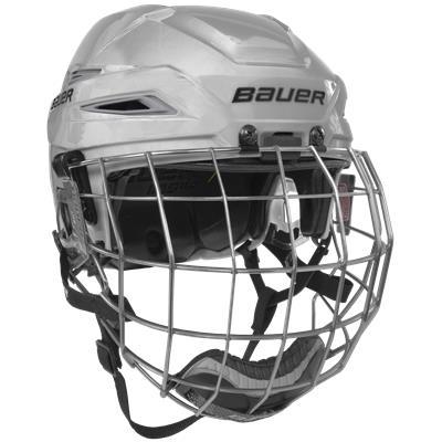 White/Silver (Bauer IMS 11.0 Hockey Helmet Combo)