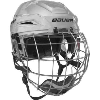 White/White (Bauer IMS 11.0 Hockey Helmet Combo)