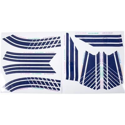 Blue (Bauer Goalie Mask Stickers - Stripes)