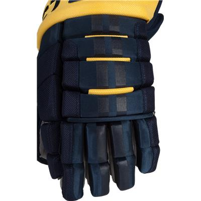 Backhand View (Easton Pro 10 Hockey Gloves)