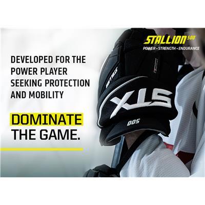 (STX Stallion 500 Hockey Gloves)