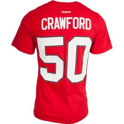 Crawford No. 50 On Back (Reebok Chicago Blackhawks Corey Crawford Tee Shirt)
