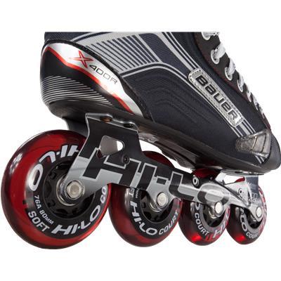 Wheel View (Bauer Vapor X400R Inline Skates)