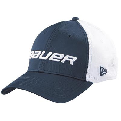 Navy (Bauer 39THIRTY Stretch Mesh Fitted Hat - Adult)