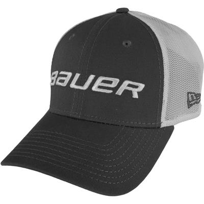 Grey (Bauer 39THIRTY Stretch Mesh Fitted Hat)